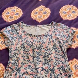Thyme Maternity Cotton Tee with Ruching, Floral